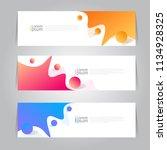 vector abstract design banner... | Shutterstock .eps vector #1134928325