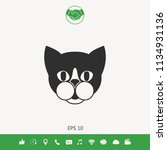 cat   logo  protect sign icon | Shutterstock .eps vector #1134931136