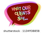 text sign showing what our... | Shutterstock . vector #1134938858