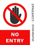 no entry sign. restricted area. ... | Shutterstock .eps vector #1134939665