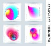 set of liquid vibrant color...   Shutterstock .eps vector #1134939818