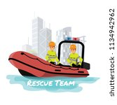 rescue boat.vector illustration ... | Shutterstock .eps vector #1134942962