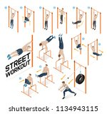 street workout exercises.... | Shutterstock .eps vector #1134943115