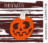 i love halloween. pumpkin... | Shutterstock .eps vector #1134947738