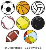 ball collection  | Shutterstock .eps vector #113494918