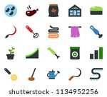 colored vector icon set  ... | Shutterstock .eps vector #1134952256