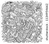 cartoon vector doodles classic... | Shutterstock .eps vector #1134954662