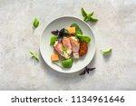 italian appetizer on table.... | Shutterstock . vector #1134961646