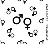gender symbol icon seamless... | Shutterstock .eps vector #1134961985