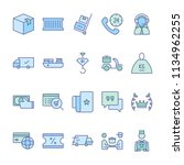 delivery service icons in for... | Shutterstock .eps vector #1134962255