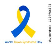 world down syndrome day. icon.... | Shutterstock .eps vector #1134966578