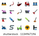 colored vector icon set   field ... | Shutterstock .eps vector #1134967196