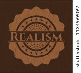 realism wooden emblem. vintage. | Shutterstock .eps vector #1134969092