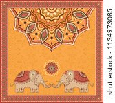 indian style design with... | Shutterstock .eps vector #1134973085