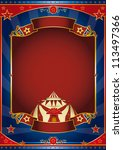 circus magic red frame. a... | Shutterstock .eps vector #113497366