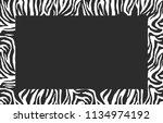 blank photo frame. zebra... | Shutterstock .eps vector #1134974192