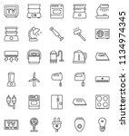 thin line vector icon set  ... | Shutterstock .eps vector #1134974345
