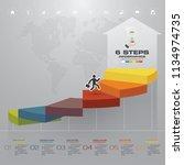 6 steps template for... | Shutterstock .eps vector #1134974735