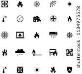 heat icon set   Shutterstock .eps vector #1134975578