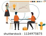 startup business people group... | Shutterstock .eps vector #1134975875