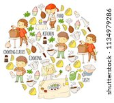 cooking class  courses for... | Shutterstock .eps vector #1134979286
