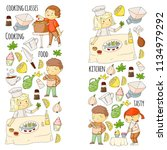 cooking class  courses for... | Shutterstock .eps vector #1134979292