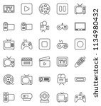 thin line vector icon set  ... | Shutterstock .eps vector #1134980432