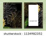 banner vertical set of hand...   Shutterstock . vector #1134982352