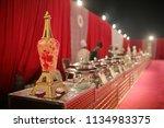indian wedding. banquet setup ... | Shutterstock . vector #1134983375