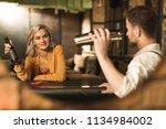 born to flirt. beautiful young...   Shutterstock . vector #1134984002