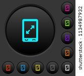 mobile pinch open gesture dark... | Shutterstock .eps vector #1134987932
