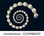 spiral of ivory glassy drops on ... | Shutterstock .eps vector #1134988352