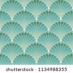 asian style foliage seamless... | Shutterstock .eps vector #1134988355