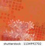 contemporary art. hand made art.... | Shutterstock . vector #1134992702