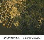 contemporary art. hand made art.... | Shutterstock . vector #1134993602