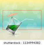 glass cold drink alcohol  ... | Shutterstock .eps vector #1134994382