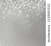 christmas falling snow vector... | Shutterstock .eps vector #1135001522
