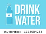 plastic bottle with water icon. ... | Shutterstock .eps vector #1135004255