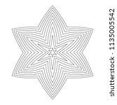 black mandala ornament on a... | Shutterstock .eps vector #1135005542