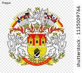 emblem of prague. city of czech ... | Shutterstock .eps vector #1135009766