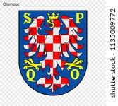 emblem of olomouc. city of... | Shutterstock .eps vector #1135009772