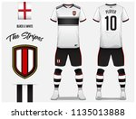 soccer jersey or football kit... | Shutterstock .eps vector #1135013888