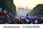 paris  france   july 15  2018   ... | Shutterstock . vector #1135014098