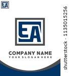 ea initial box letter logo... | Shutterstock .eps vector #1135015256