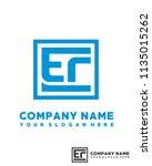 ec initial box letter logo... | Shutterstock .eps vector #1135015262