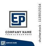 ep initial box letter logo... | Shutterstock .eps vector #1135015316