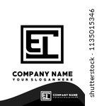 el initial box letter logo... | Shutterstock .eps vector #1135015346