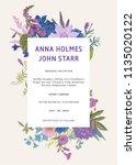 wedding invitation. vector... | Shutterstock .eps vector #1135020122