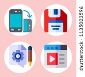 simple 4 icon set of web... | Shutterstock .eps vector #1135023596