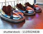 electric bumper cars in...   Shutterstock . vector #1135024838